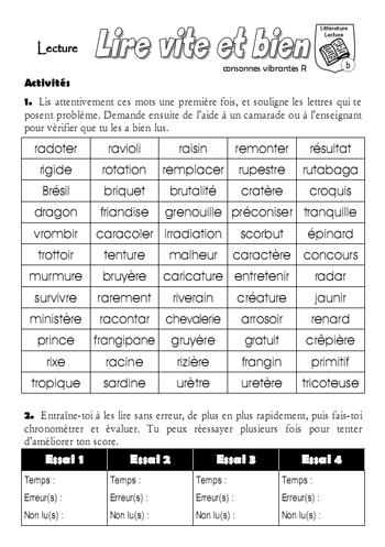 Consonnes vibrantes