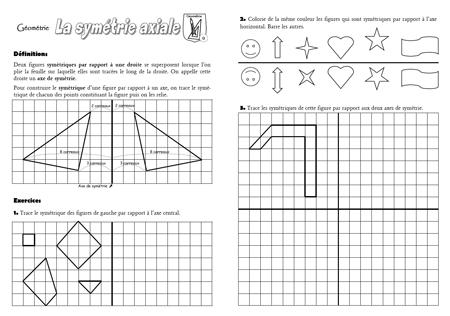 Préférence Fiche-mémoire sur la symétrie axiale - Quoi de neuf ? PD44